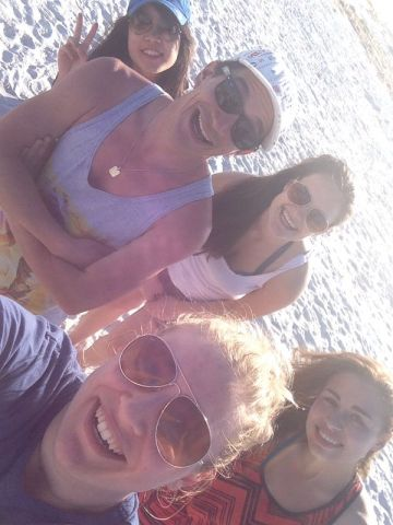 Our group at the beach