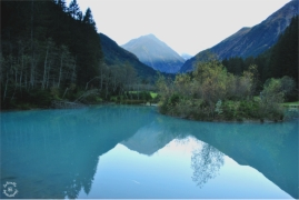 Pond reflections in the Valley of Stubai