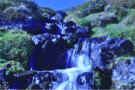 Waterfall in Sellrain Valley
