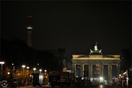 Brandenburger Tor is in preparation for celebration
