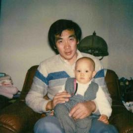 My dad, Teh Li and me