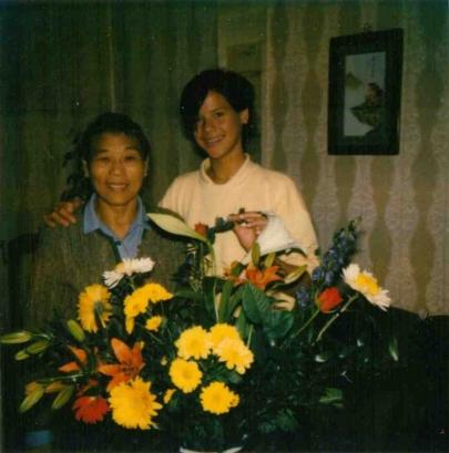 Madga and Nathalie, my older half-sister