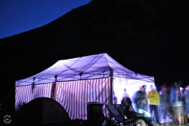 The small Festival Tent with hard beats