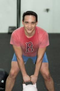 Der Autor beim Training