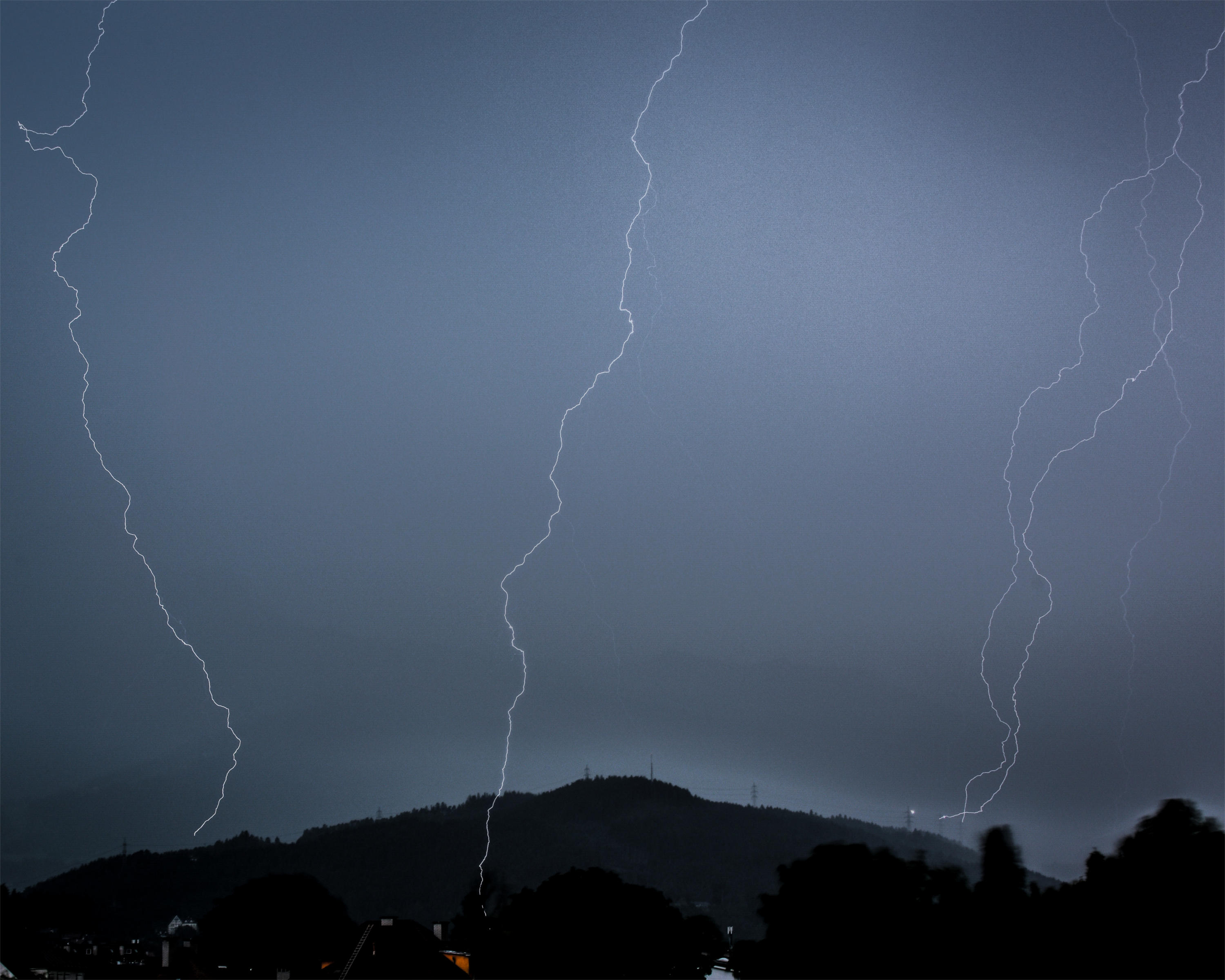 Blitz Lightning over Innsbruck